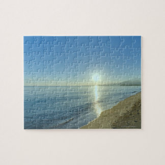 Sunrise over Pristine Tropical Beach Jigsaw Puzzle