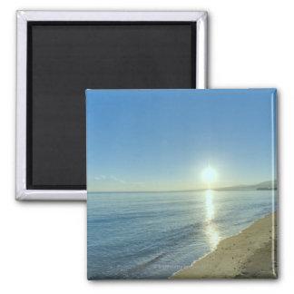 Sunrise over Pristine Tropical Beach Magnet