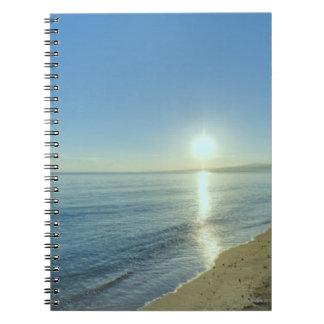 Sunrise over Pristine Tropical Beach Notebooks