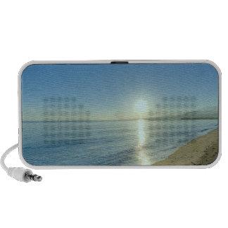 Sunrise over Pristine Tropical Beach Laptop Speakers