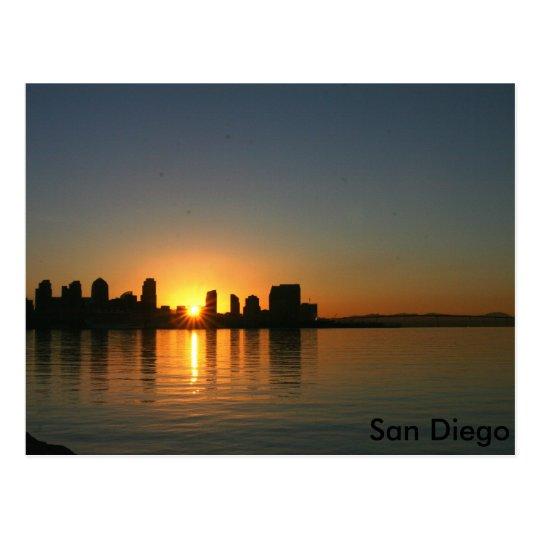 Sunrise over San Diego Postcard