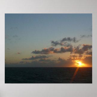 Sunrise over San Juan I Puerto Rico Seascape Poster