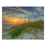Sunrise Over Sand Dunes in Daytona Beach, FL Art Photo