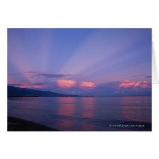 Sunrise over sea card