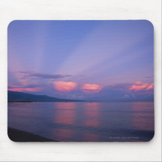 Sunrise over sea mouse mat