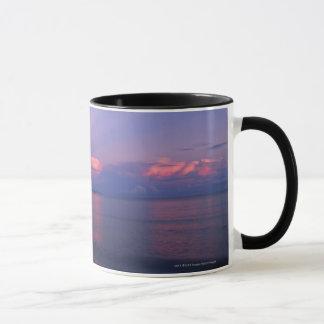 Sunrise over sea mug
