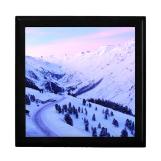 Sunrise over Snowy Mountains Gift Box