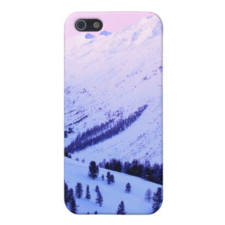 Sunrise over Snowy Mountains iphone cover