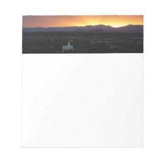 Sunrise over St. George Utah Landscape Notepad