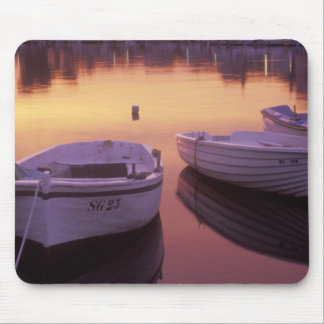 Sunrise over Stari Grad harbor with fishing Mouse Mat