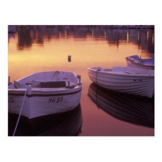 Sunrise over Stari Grad harbor with fishing Postcard
