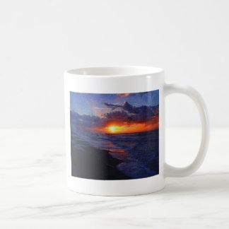 Sunrise Over The Atlantic Ocean Basic White Mug
