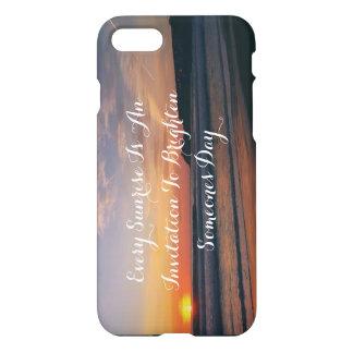 Sunrise over the beach iPhone 8/7 case