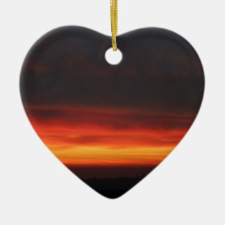 Sunrise over the English countryside Christmas Ornament
