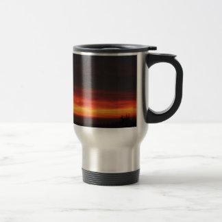 Sunrise over the English countryside Travel Mug