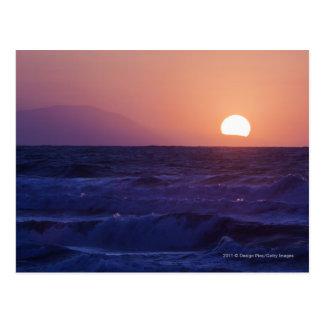 Sunrise Over The Malaga Bay Postcard