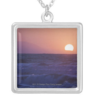 Sunrise Over The Malaga Bay Silver Plated Necklace