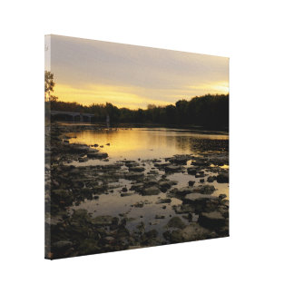Sunrise over the Maumme river Gallery Wrap Canvas