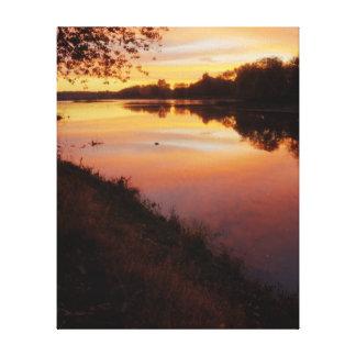 Sunrise over the Maumme river Canvas Print