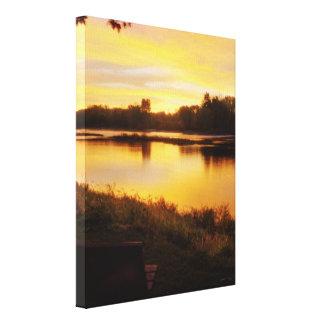 Sunrise over the Maumme river Canvas Prints