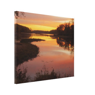 Sunrise over the Maumme river Stretched Canvas Print