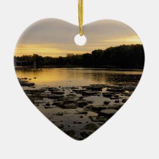 Sunrise over the Maumme river Christmas Ornament