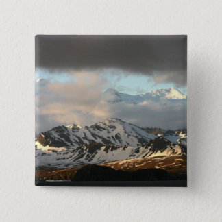 Sunrise over the mountain ranges on South 2 15 Cm Square Badge