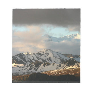 Sunrise over the mountain ranges on South 2 Notepad