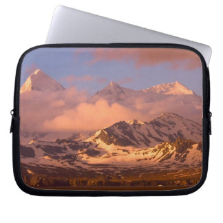 Sunrise over the mountain ranges on South Laptop Sleeve