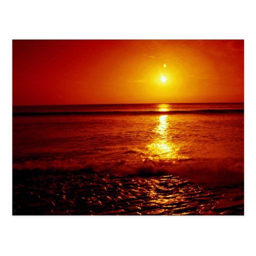 Sunrise over the sea, Filey, North Yorkshire, Engl Postcards