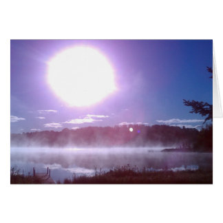 Sunrise Over Twin Lake Greeting Card