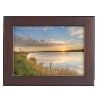 Sunrise Over Wetlands At Arrowwood National Keepsake Box