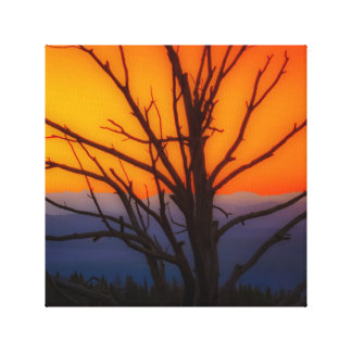 Sunrise Over Yellowstone National Park Design Canvas Print