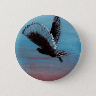 Sunrise Owl Art 6 Cm Round Badge