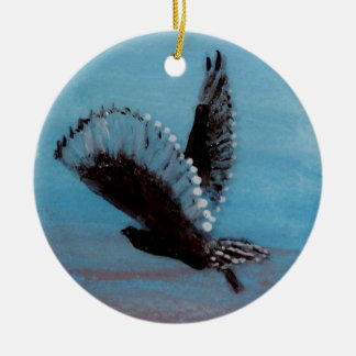 Sunrise Owl Art Christmas Ornament