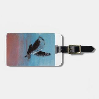 Sunrise Owl Art Luggage Tag