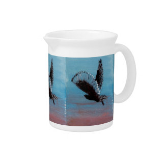 Sunrise Owl Art Pitcher