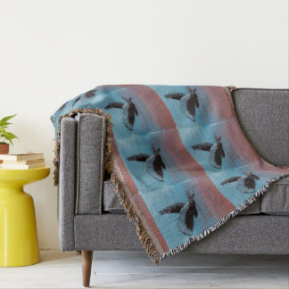 Sunrise Owl Art Throw Blanket