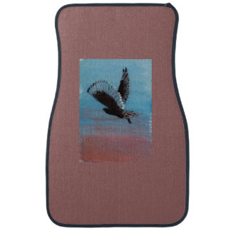 Sunrise Owl Bird Art Car Mat