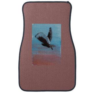 Sunrise Owl Bird Art Car Mat