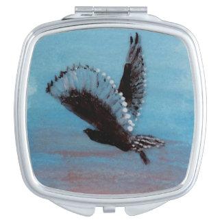 Sunrise Owl Bird Art Compact Mirrors