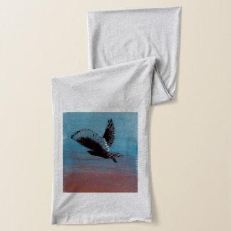 Sunrise Owl Bird Art Scarf