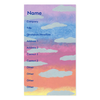 Sunrise Pack Of Standard Business Cards