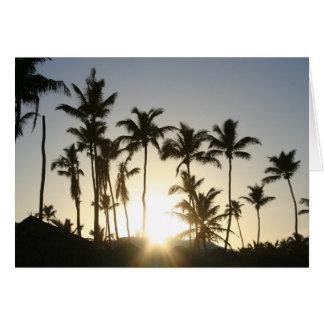 Sunrise Palm Trees Card