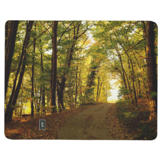 Sunrise Path Through the Forest Customizable Journal
