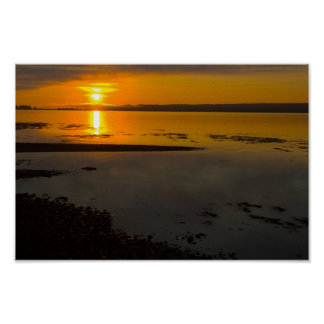 Sunrise, Penobscot Bay, Maine Poster
