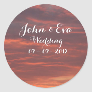 Sunrise Photo Wedding Sticker