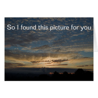 Sunrise Picture Card