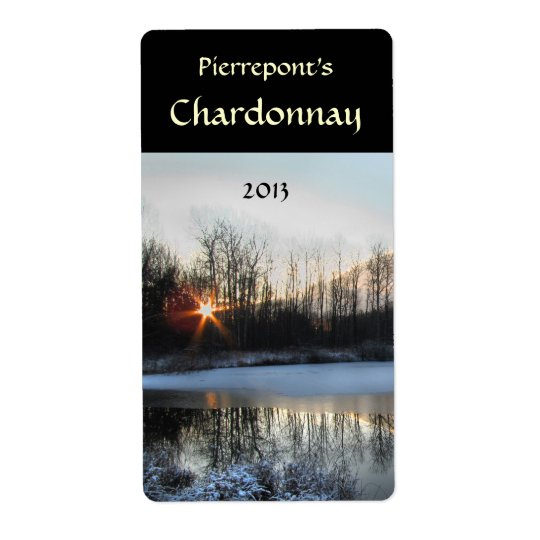 Sunrise Pond Wine Label