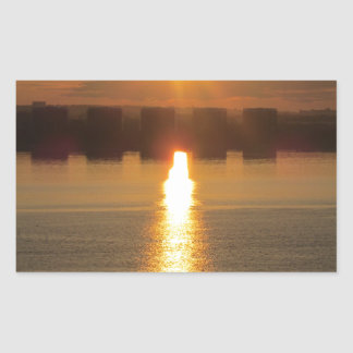 Sunrise Rectangular Sticker